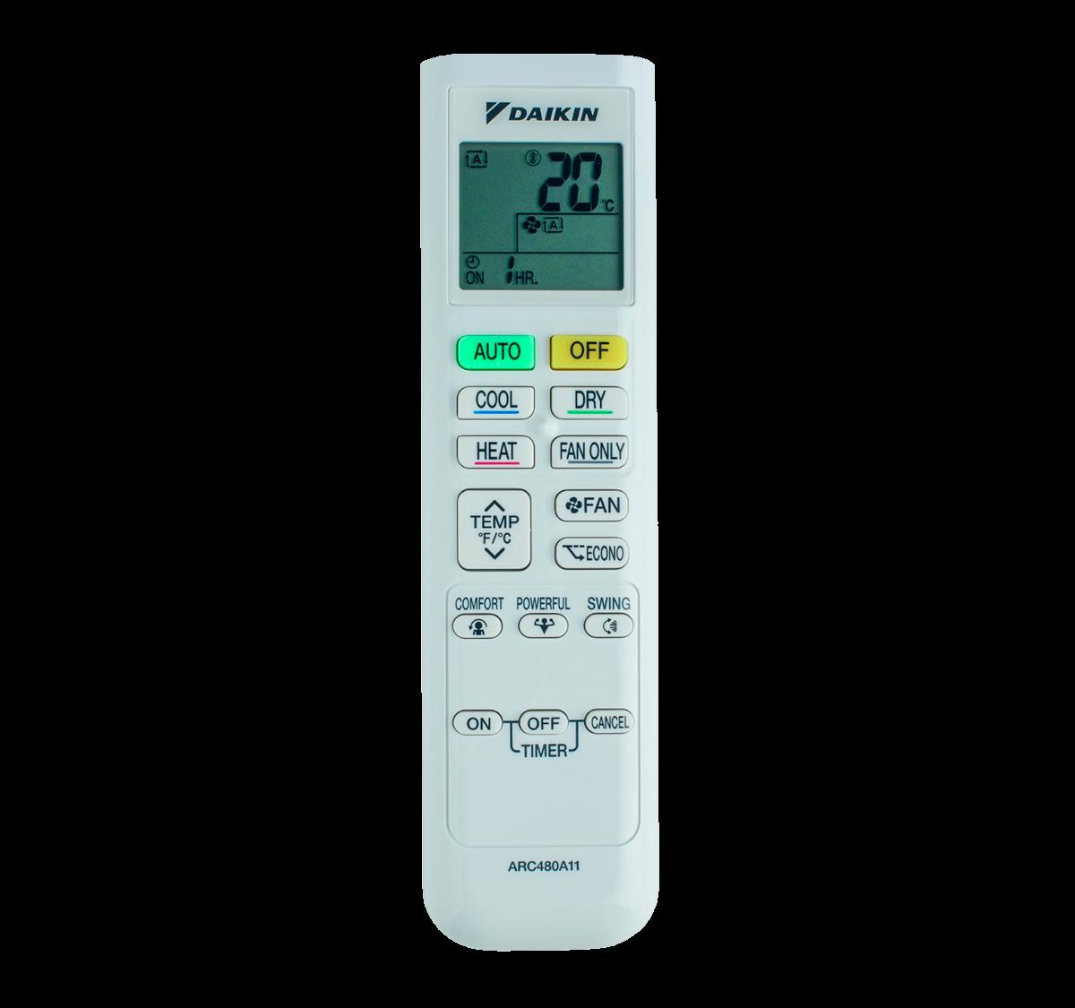 aire acondicionado conjunto split daikin inverter mando a diastanacia arc480a11 modelo comfora txp60m instalacion incluida caseragua