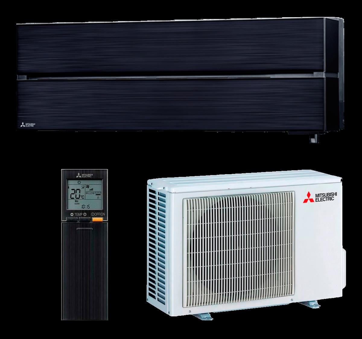 aire acondicionado negro split mitsubishi electric inverter serie kirigamine style modelo msz ln25vgb precio incluido instalacion caseragua 01