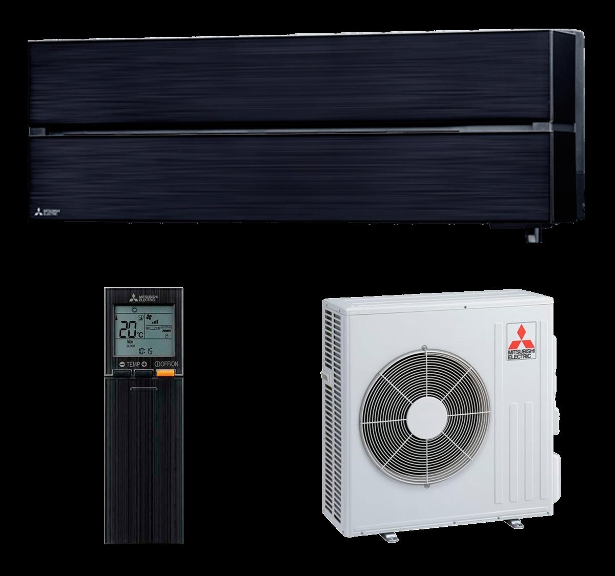 aire acondicionado negro split mitsubishi electric inverter serie kirigamine style modelo msz ln60vgb precio incluido instalacion caseragua 01