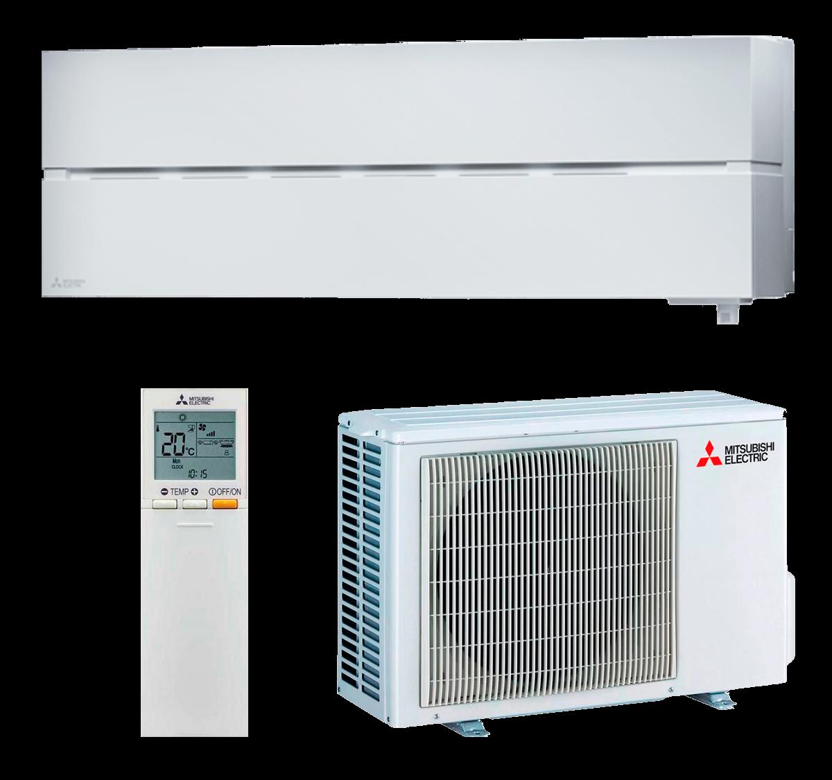 aire acondicionado split blanco mitsubishi electric inverter serie kirigamine style modelo msz ln25vgw precio incluido instalacion caseragua 03