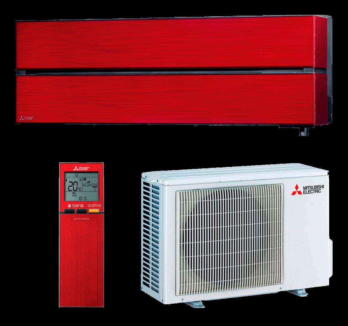 aire acondicionado split rojo mitsubishi electric inverter serie kirigamine style modelo msz ln35vgr precio incluido instalacion caseragua 01