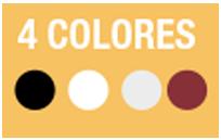 4 COLORES PERSONALIZABLES - Unidad disponible en varios colores para una mayor personalización y adecuación a la decoración.