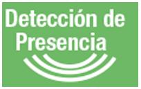 DETECTOR DE PRESENCIA - El sensor de presencia detecta la temperatura corporal de las personas. De esta manera, cuando la persona abandona la sala pasa al modo ahorro de energía reduciendo el consumo eléctrico.