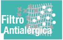 FILTRO ANTIALÉRGICO - Filtro especialmente indicado para personas alérgicas. Es capaz de limpiar el ambiente de elementos alérgenos.