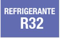GAS REFRIGERANTE R32 - Gas refrigerante con rendimientos más eficientes y componentes inofensivos para la capa de ozono. Respetuoso con el Medio Ambiente.