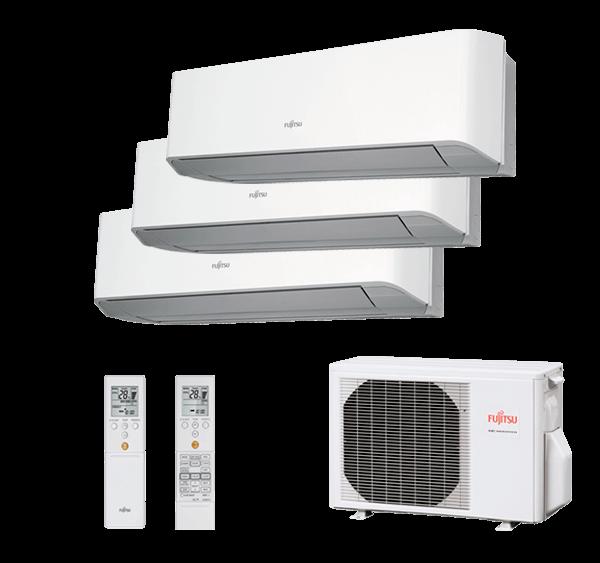 Multisplit 3X1 Inverter Fujitsu Serie 2-8 AOY71UI-M3 ASY20MI-LMC+ASY25MI-LMC+ASY35MI-LMC