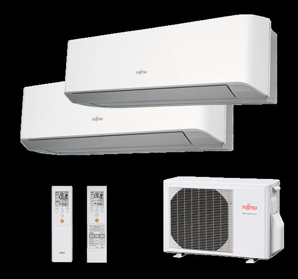 Multisplit Pared 2X1 Inverter Fujitsu Serie 2-8 AOY40UI-MI2+ASY25MI-LMC+ASY25MI-LMC