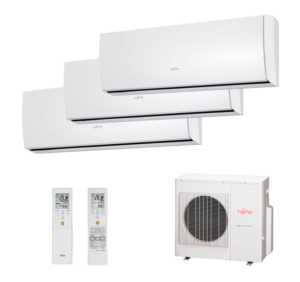 Multisplit 3X1 Inverter Fujitsu Serie 2-8 AOY80UI-M3 Multisplit ASY20MI-LU+ASY35MI-LU+ASY35MI-LU