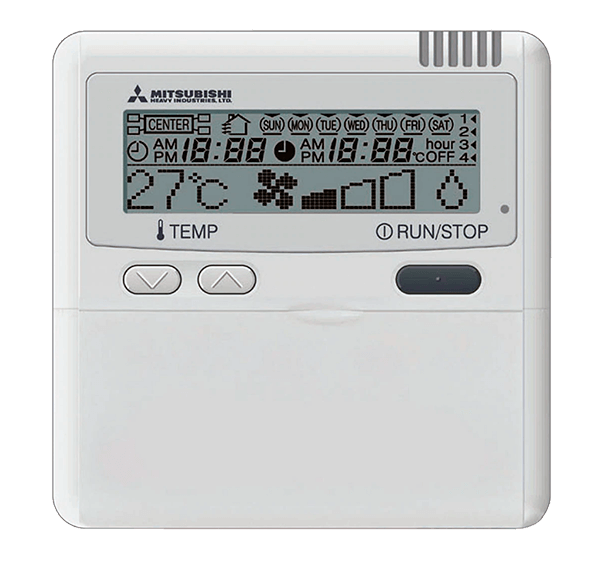 Mando A Distancia Para Split Cassette Mitsubishi Heavy Industries Serie Hyper Inverter Modelo RC-E5