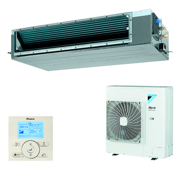 Conjunto Aire Acondicionado por Conductos Inverter Daikin Serie SkyAir Advance - Modelo BASG100A