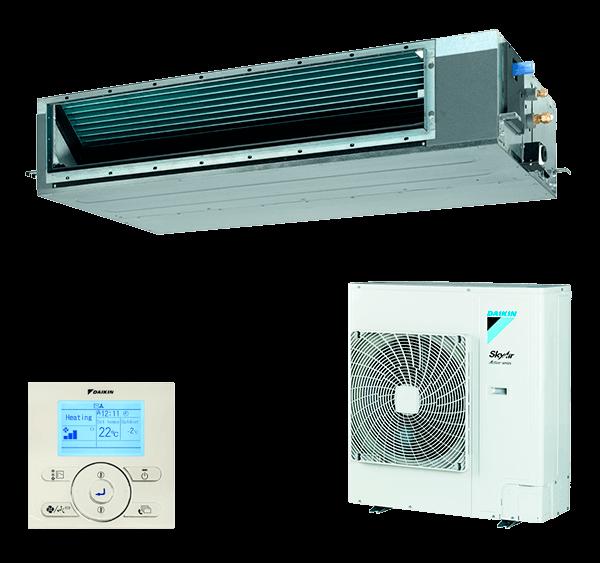 Conjunto Aire Acondicionado por Conductos Inverter Daikin Serie SkyAir Advance Modelo BASG125A