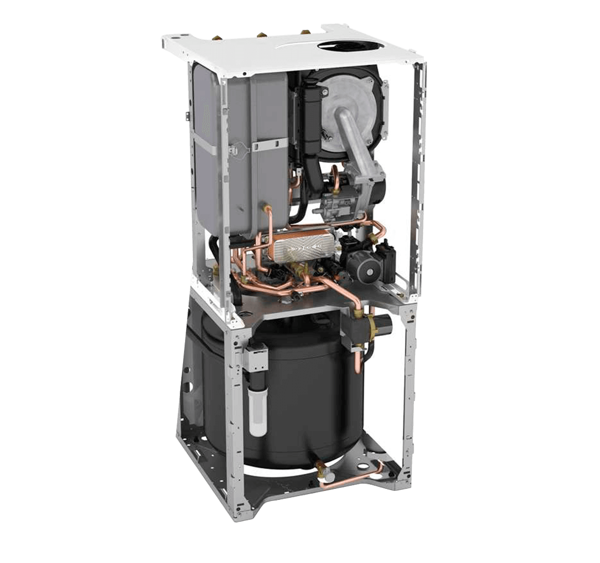 Caldera-a-gas-de-condensacion-Saunier-Duval-compacta-mixta-de-35-kW-con-acumulacion-de-90-litros-interior