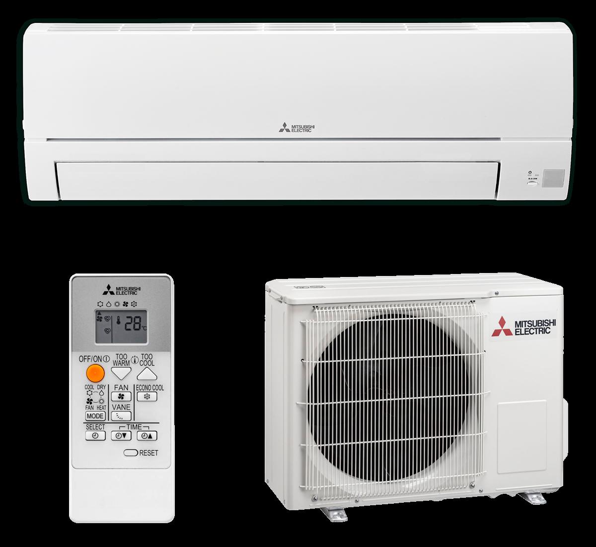 aire acondicionado conjunto split mitsubishi electric inverter serie msz hr modelo msz hr25vf precio incluido en la instalacion caseragua