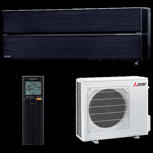 aire acondicionado negro split mitsubishi electric inverter serie kirigamine style modelo msz ln50vgb precio incluido instalacion caseragua 01