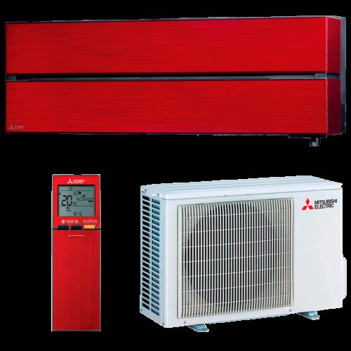 aire acondicionado split rojo mitsubishi electric inverter serie kirigamine style modelo msz ln25vgr precio incluido instalacion caseragua 01