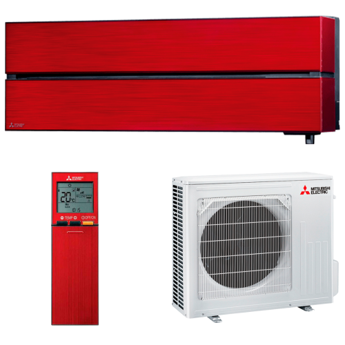 aire acondicionado split rojo mitsubishi electric inverter serie kirigamine style modelo msz ln50vgr precio incluido instalacion caseragua 01