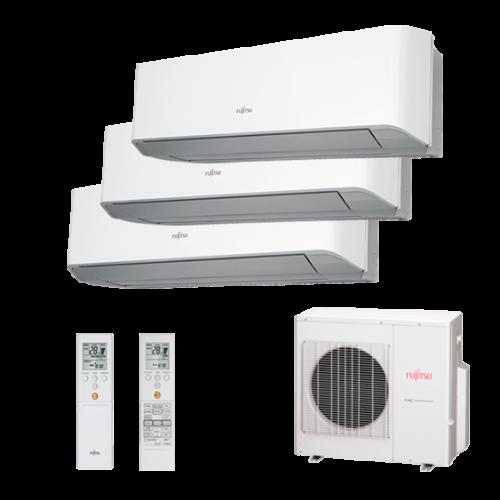 Multisplit 3X1 Inverter Fujitsu Serie 2-8 AOY80UI-M3 ASY20MI-LMC+ASY35MI-LMC+ASY35MI-LMC