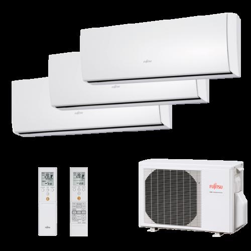 Multisplit 3X1 Inverter Fujitsu Serie 2-8 AOY71UI-M3 ASY20MI-LU+ASY20MI-LU+ASY35MI-LU